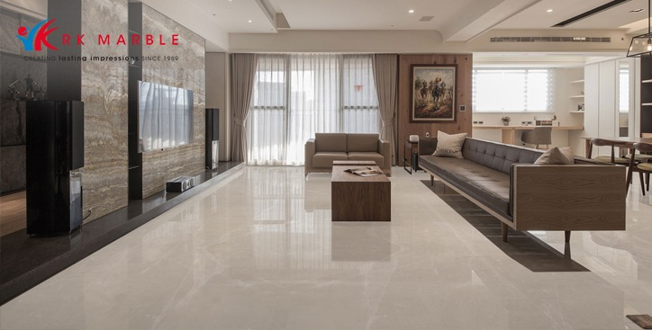 Fantastic silver: imported grey marble trending interior designs