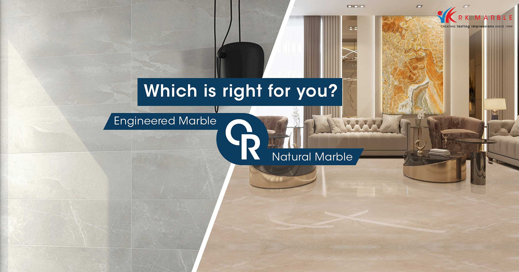 Engineered Marble or Natural Marble: Which one is right for you?